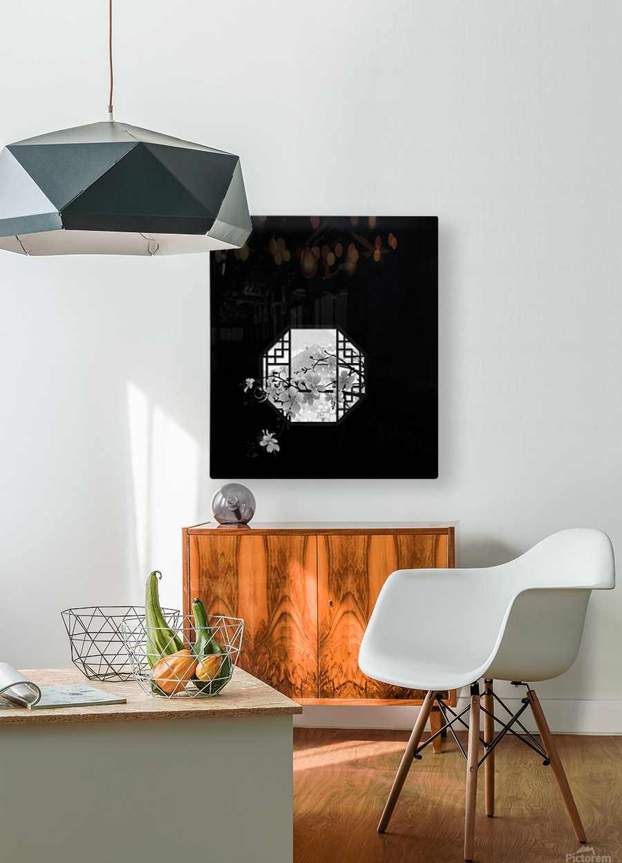 Chinese Concept 35A  HD Metal print with Floating Frame on Back