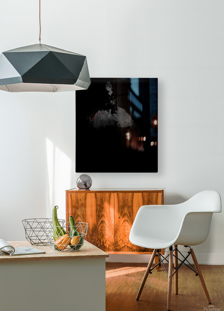 Chinese Concept 37A  HD Metal print with Floating Frame on Back