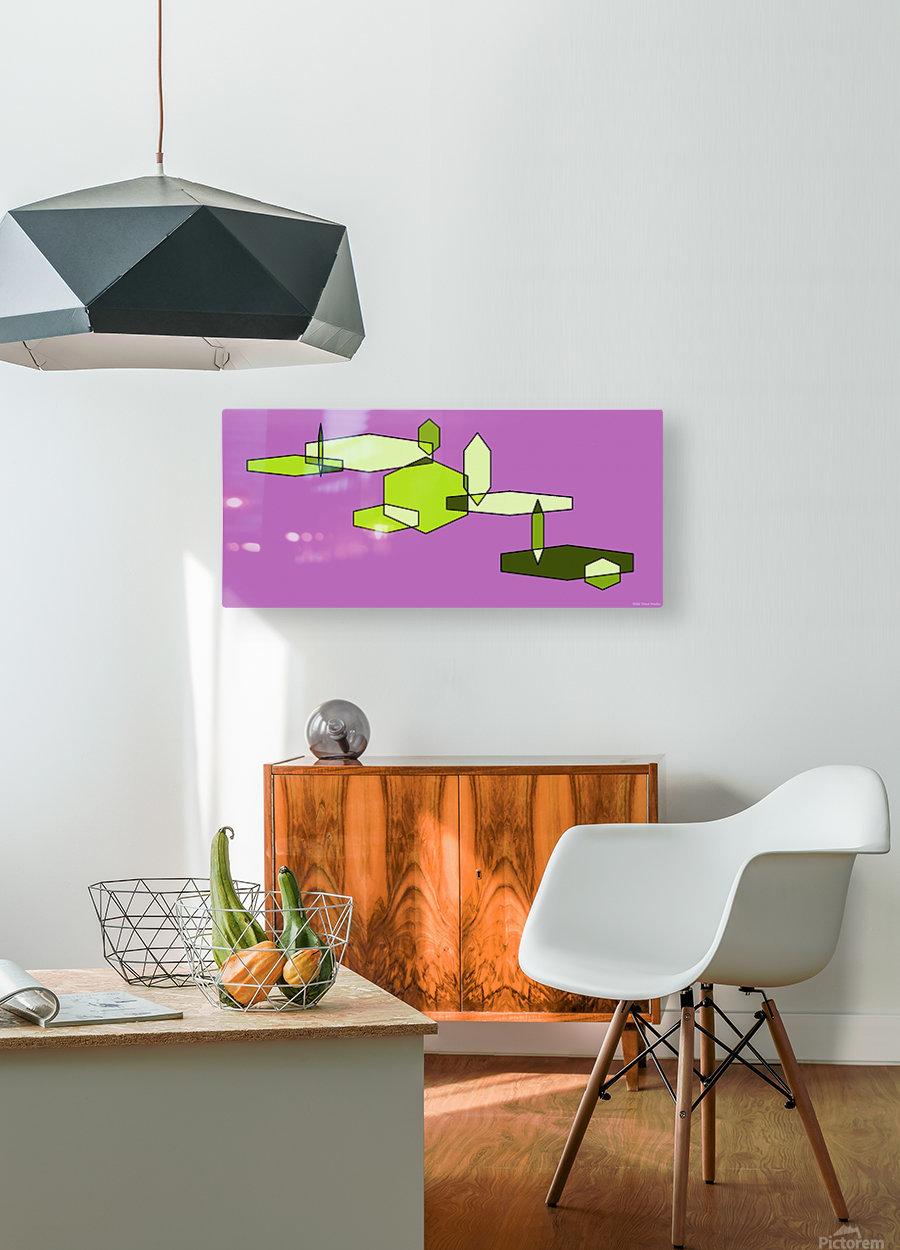 green zebra  HD Metal print with Floating Frame on Back