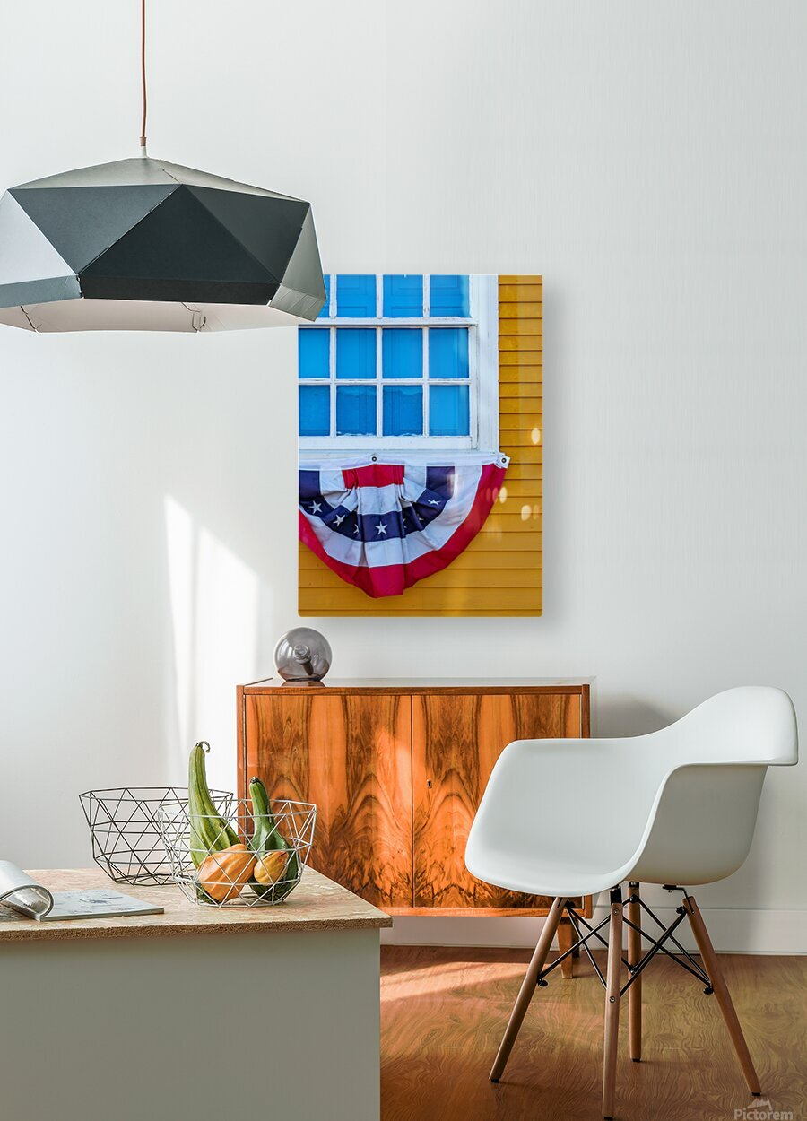 Patriotic Colonial  HD Metal print with Floating Frame on Back