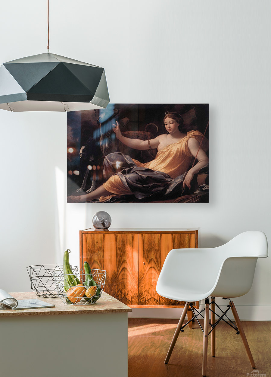 Diana  HD Metal print with Floating Frame on Back