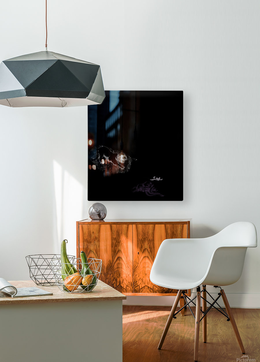 Chinese Concept 48A  HD Metal print with Floating Frame on Back