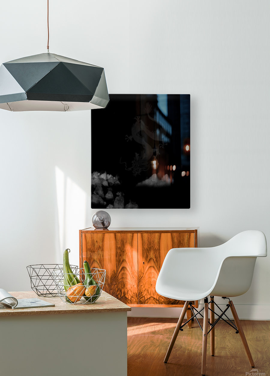 Chinese Concept 52A  HD Metal print with Floating Frame on Back