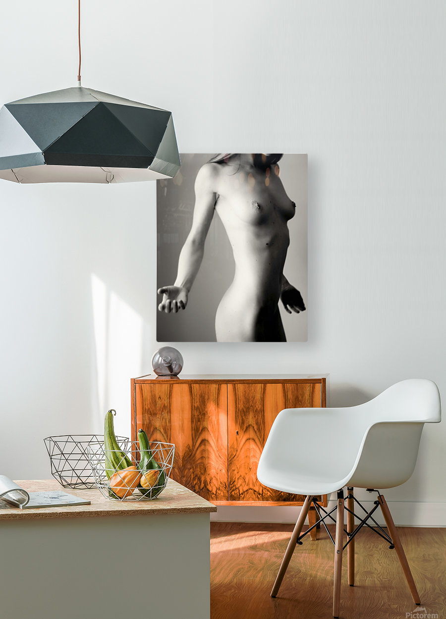 Nude 4  HD Metal print with Floating Frame on Back