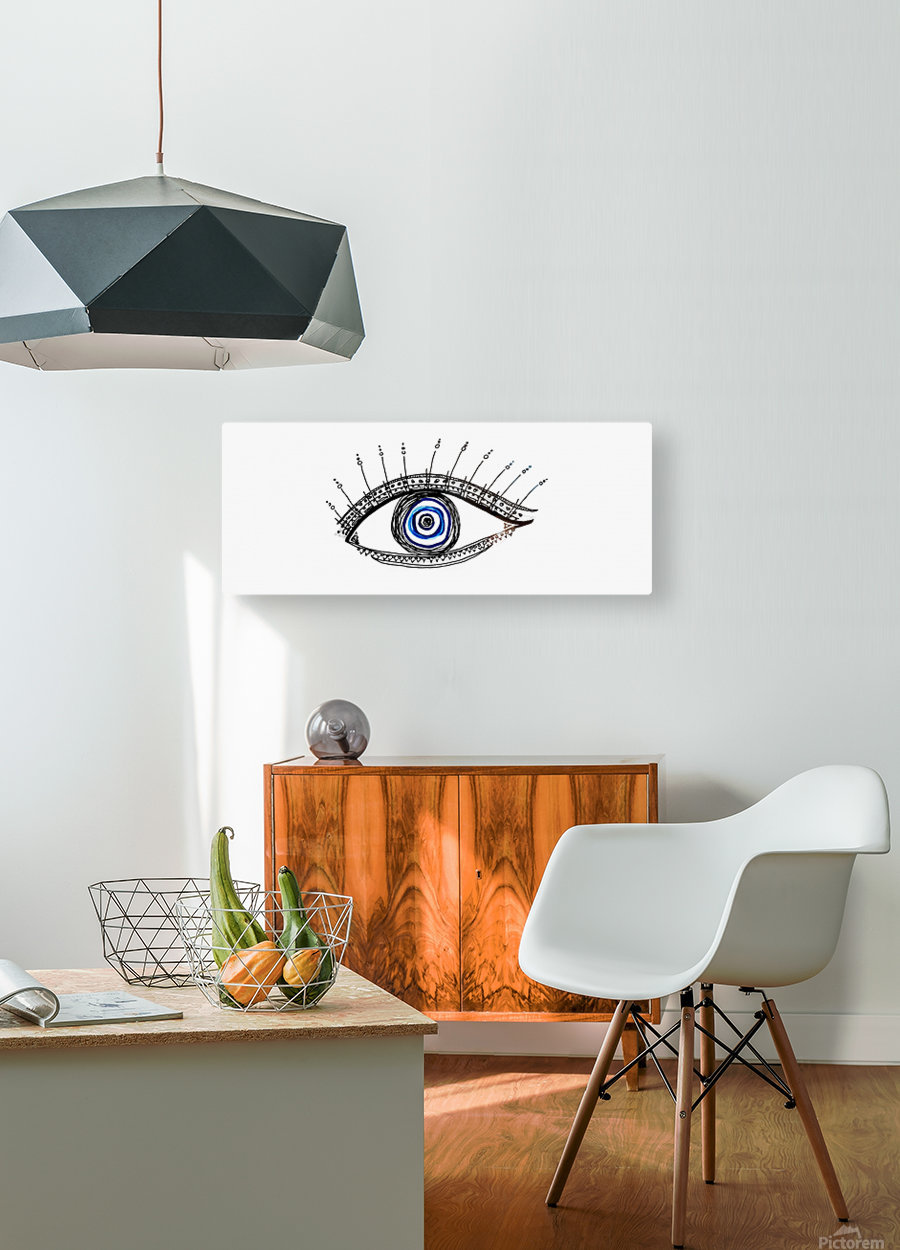 The Eye 20X8  HD Metal print with Floating Frame on Back