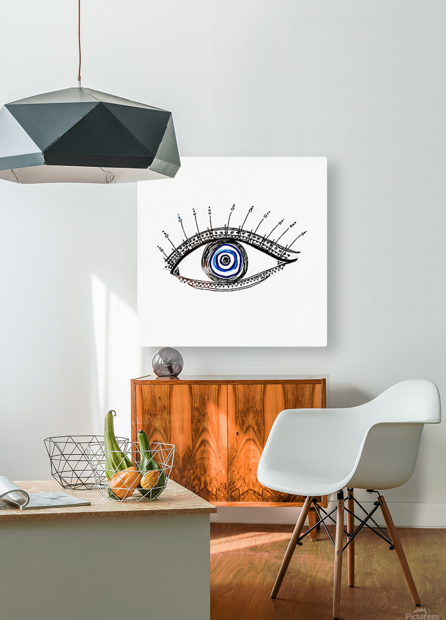 The Eye  12X12 1 1  HD Metal print with Floating Frame on Back