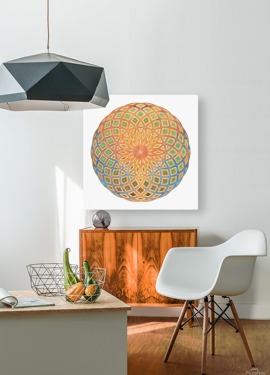 Life Geometry  HD Metal print with Floating Frame on Back