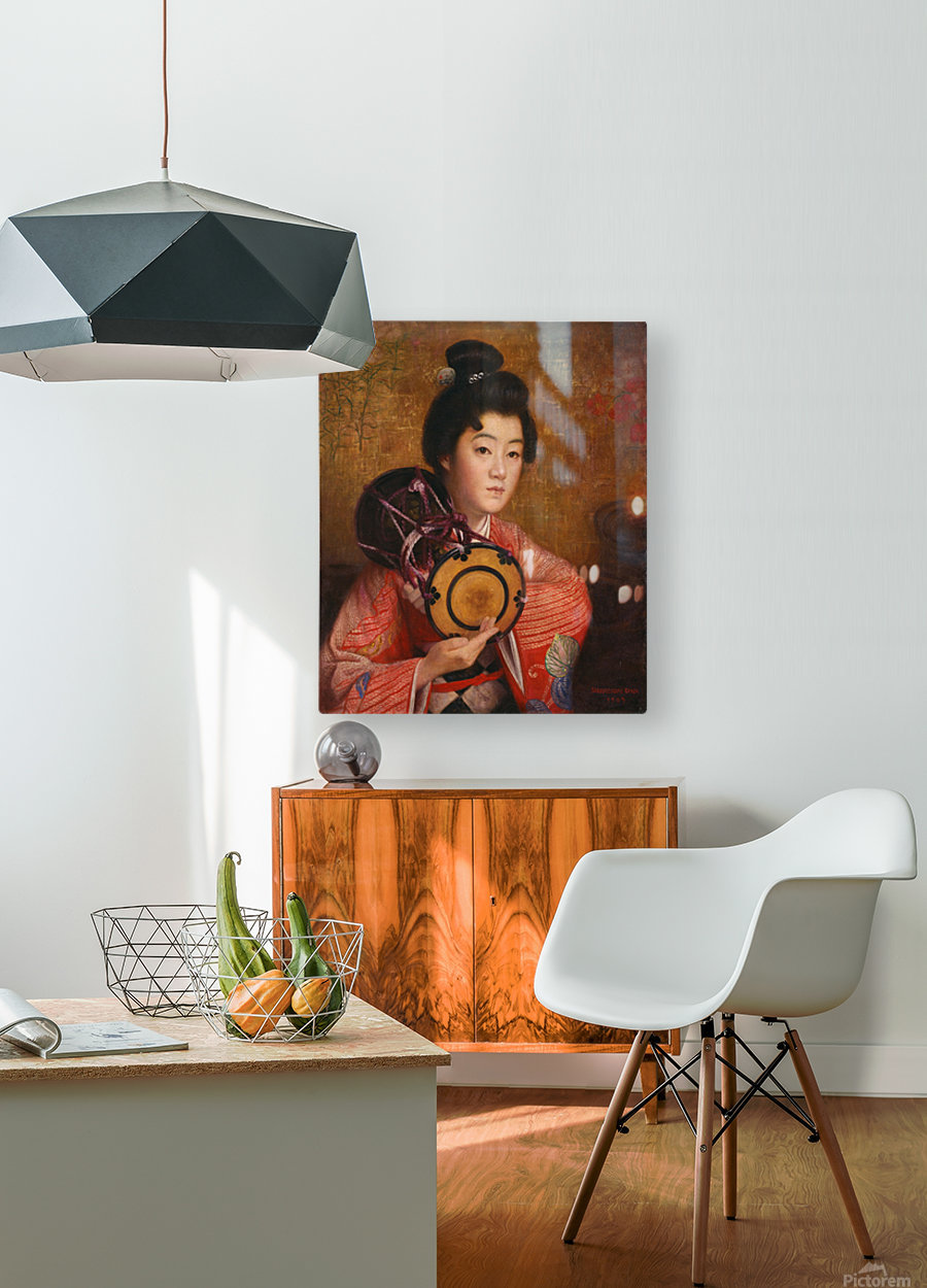 Portrait of a lady  HD Metal print with Floating Frame on Back