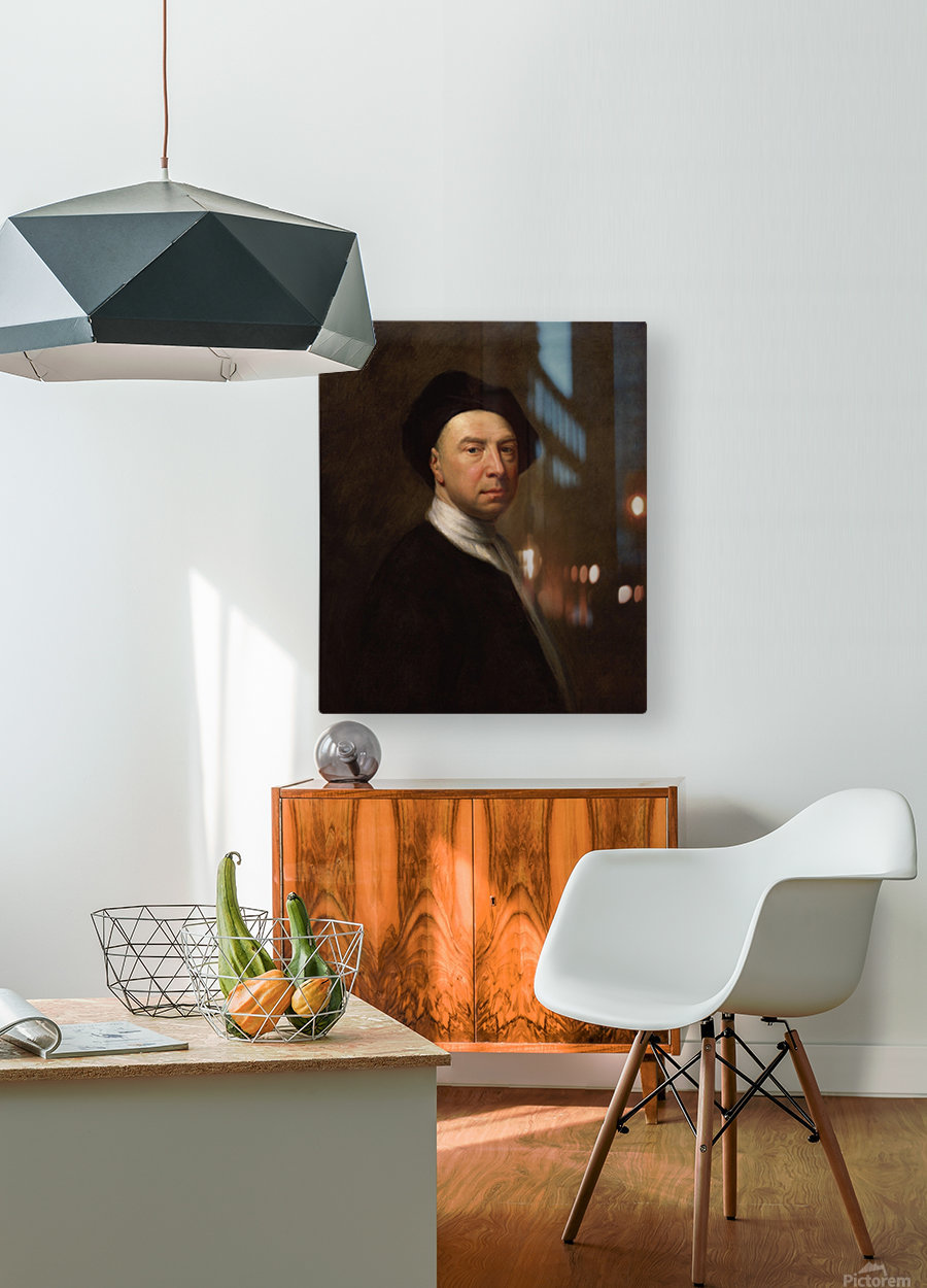 Portrait of a man  HD Metal print with Floating Frame on Back