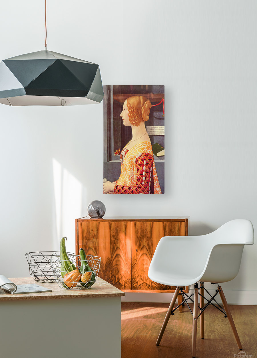 Portrait of Giovana  HD Metal print with Floating Frame on Back