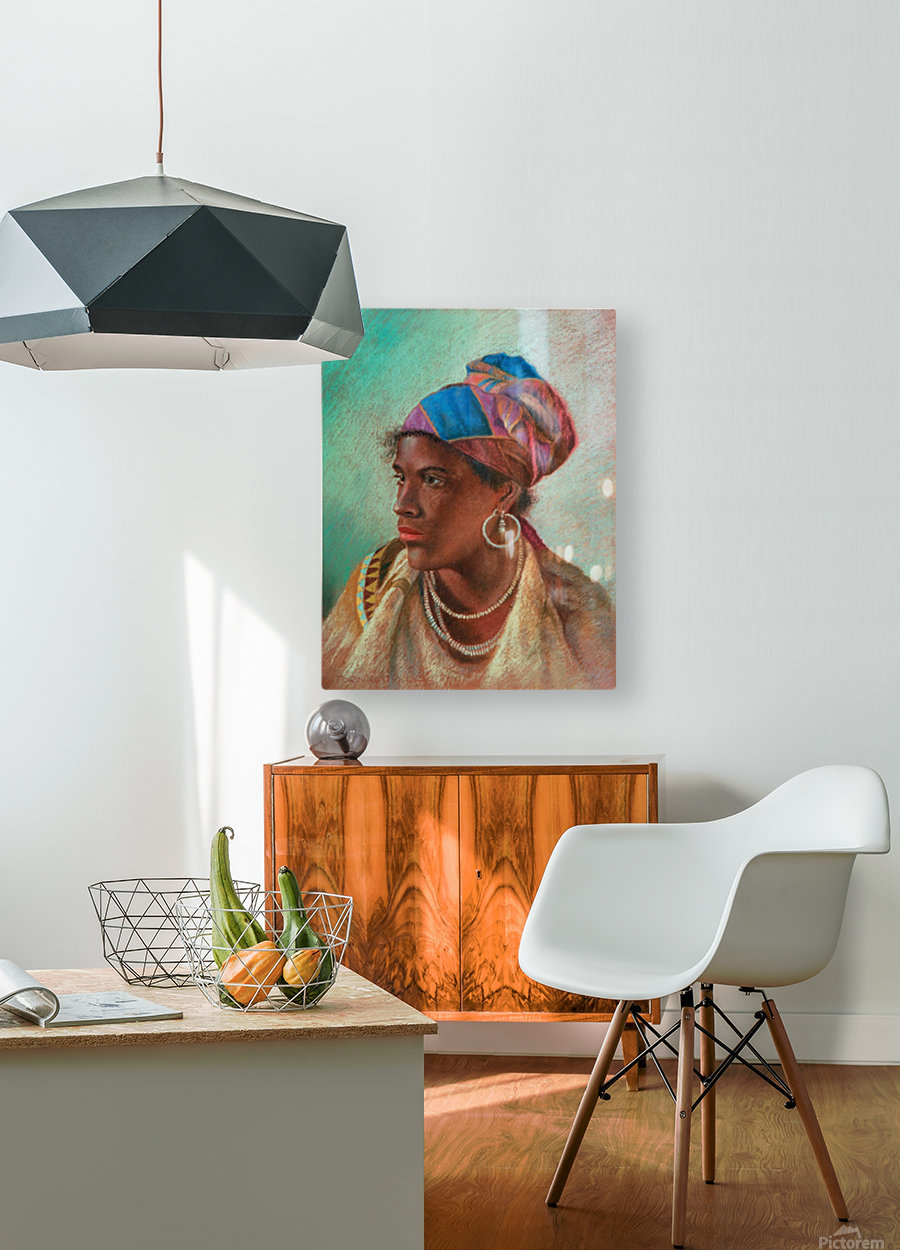 Portrait of a woman  HD Metal print with Floating Frame on Back
