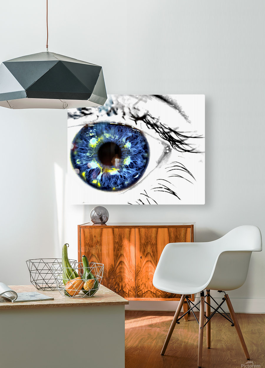 Eye Art 1  HD Metal print with Floating Frame on Back