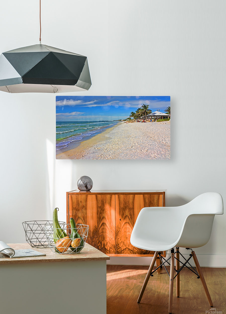 Beach Time   HD Metal print with Floating Frame on Back