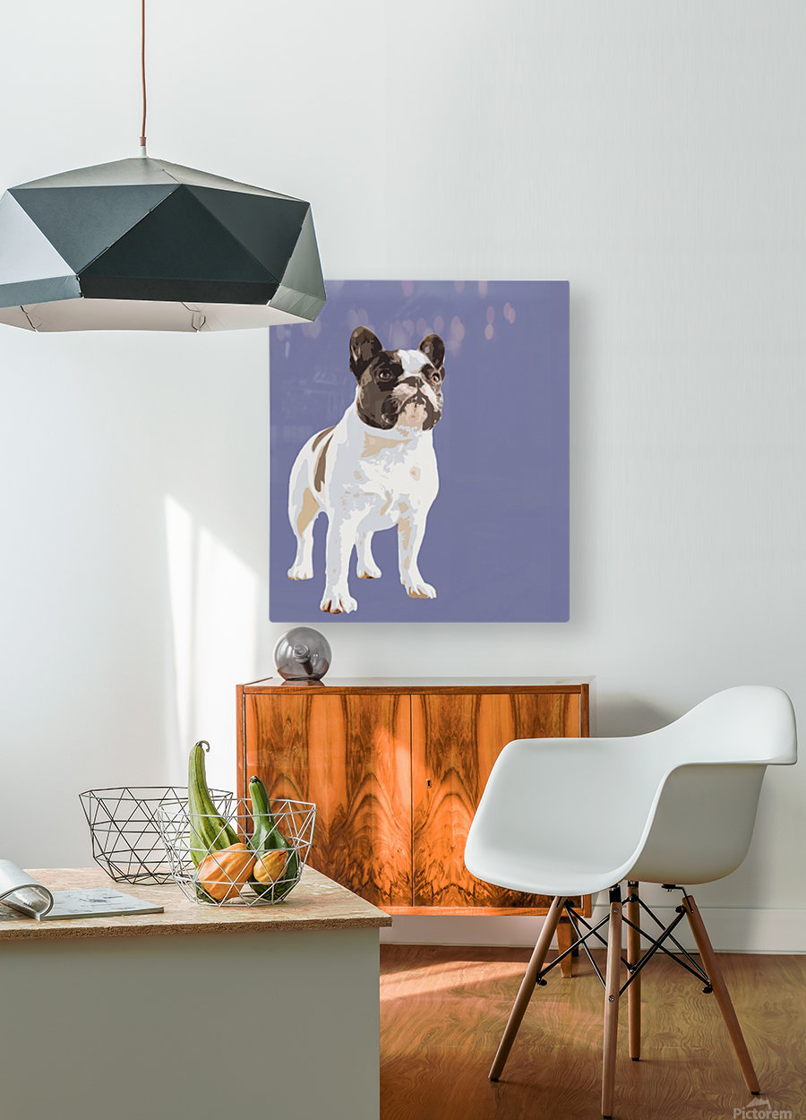 French Bulldog Pop art  HD Metal print with Floating Frame on Back