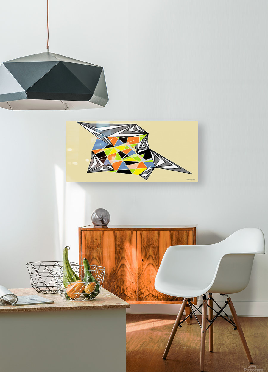 Starship  HD Metal print with Floating Frame on Back