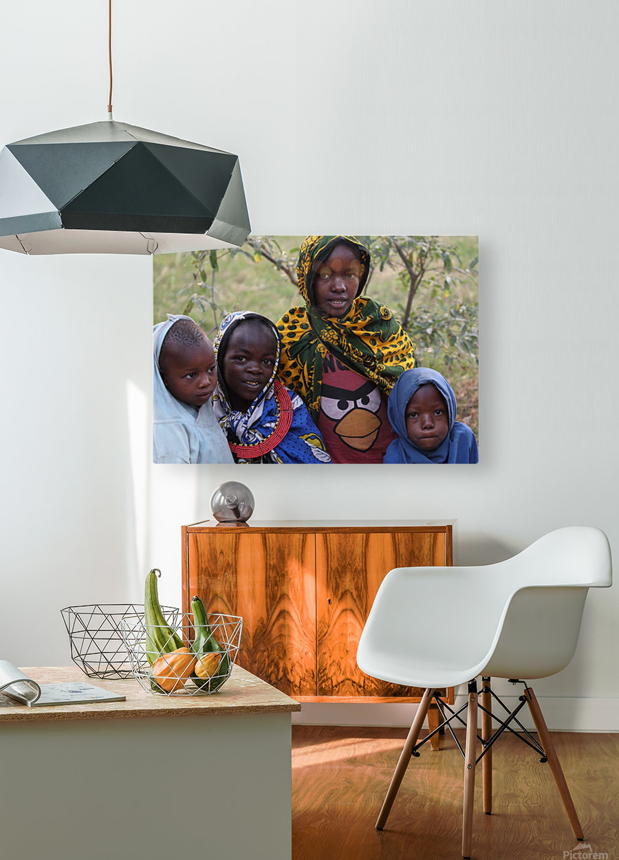 Faces of Africa  HD Metal print with Floating Frame on Back