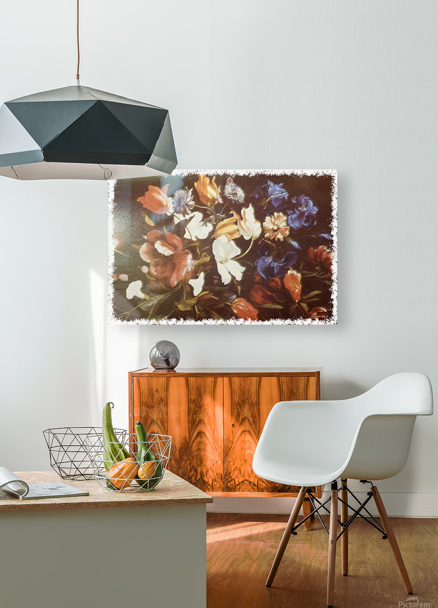 Floral Explosion   HD Metal print with Floating Frame on Back