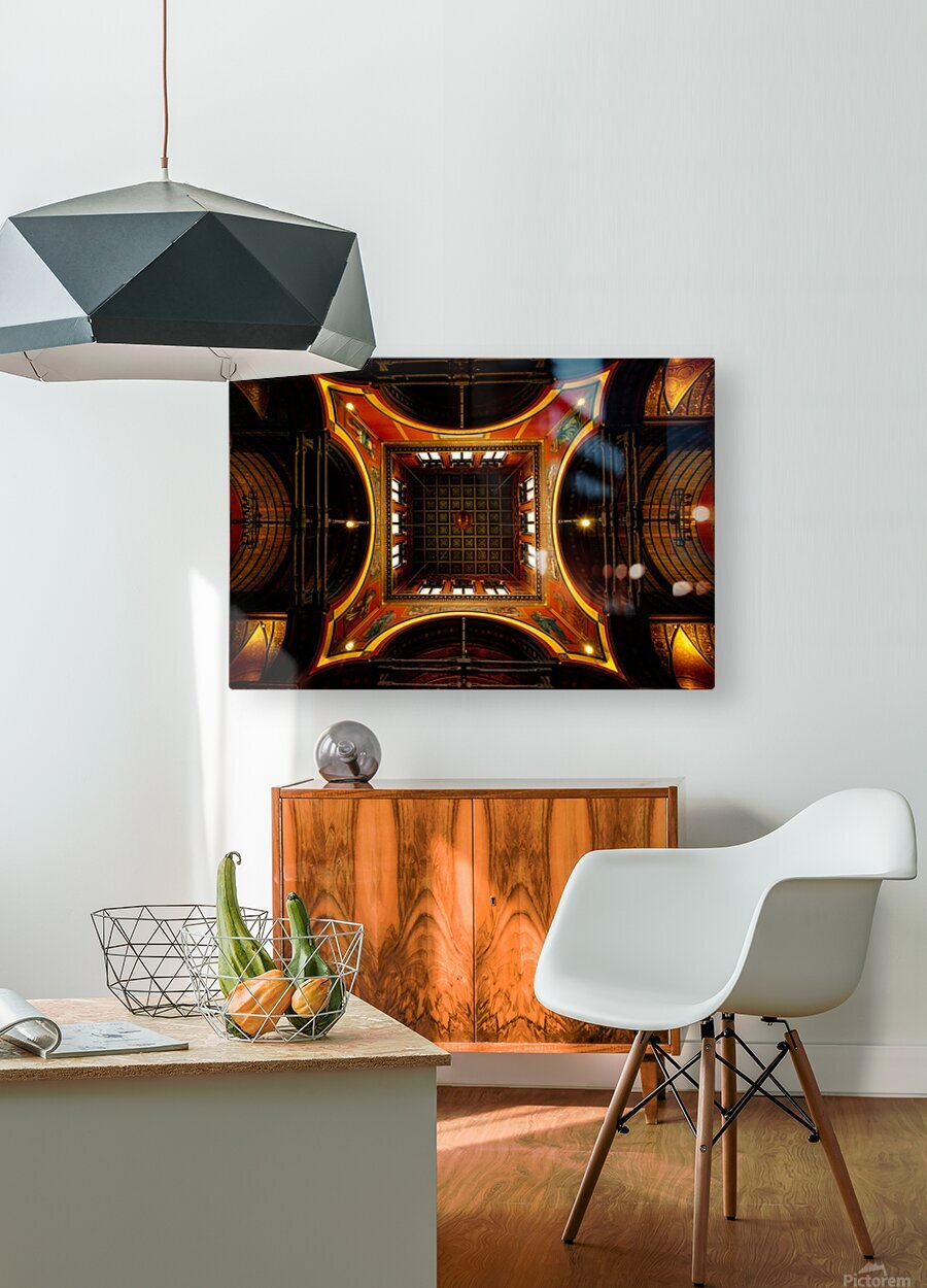 Heavenly View - Trinity Church  HD Metal print with Floating Frame on Back