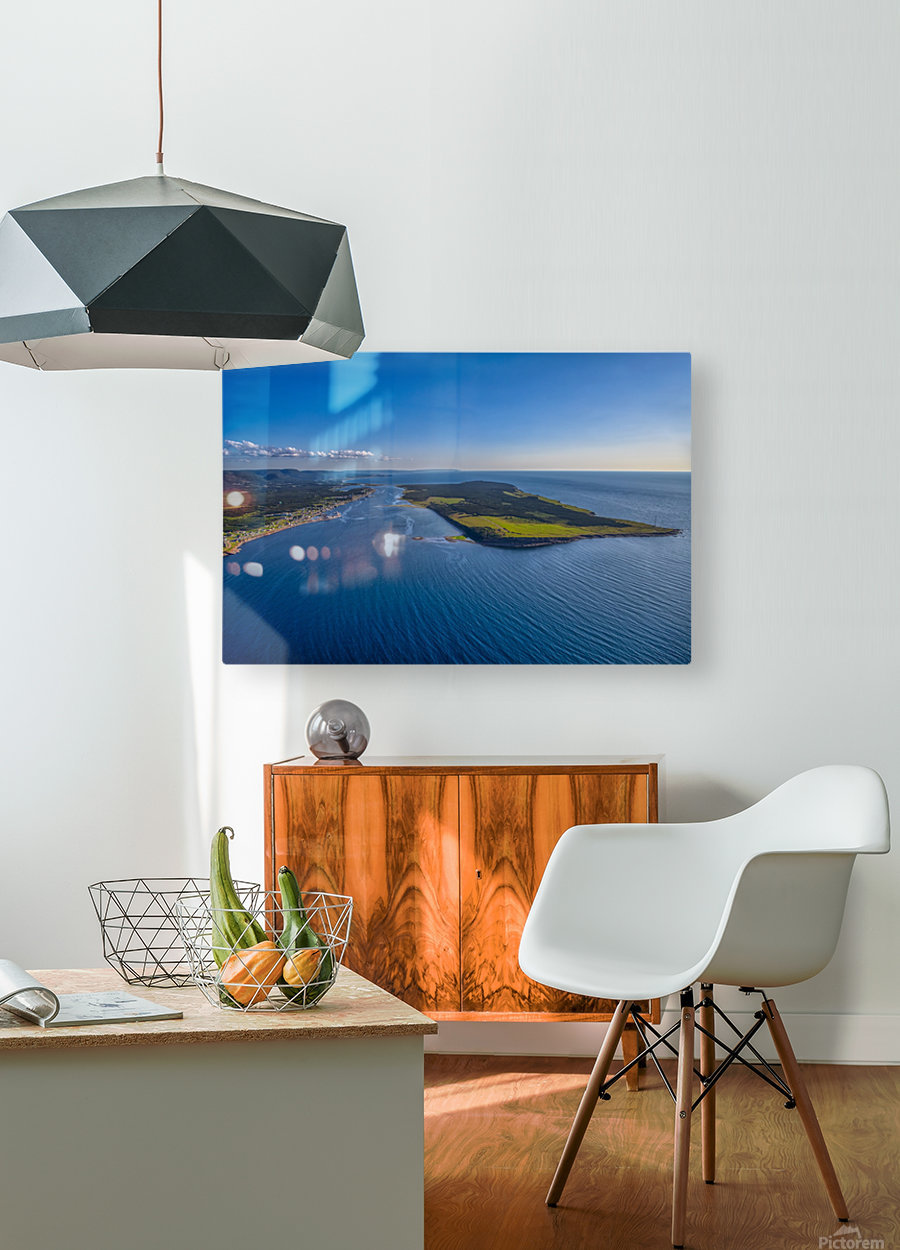 Cheticamp Aerial   HD Metal print with Floating Frame on Back