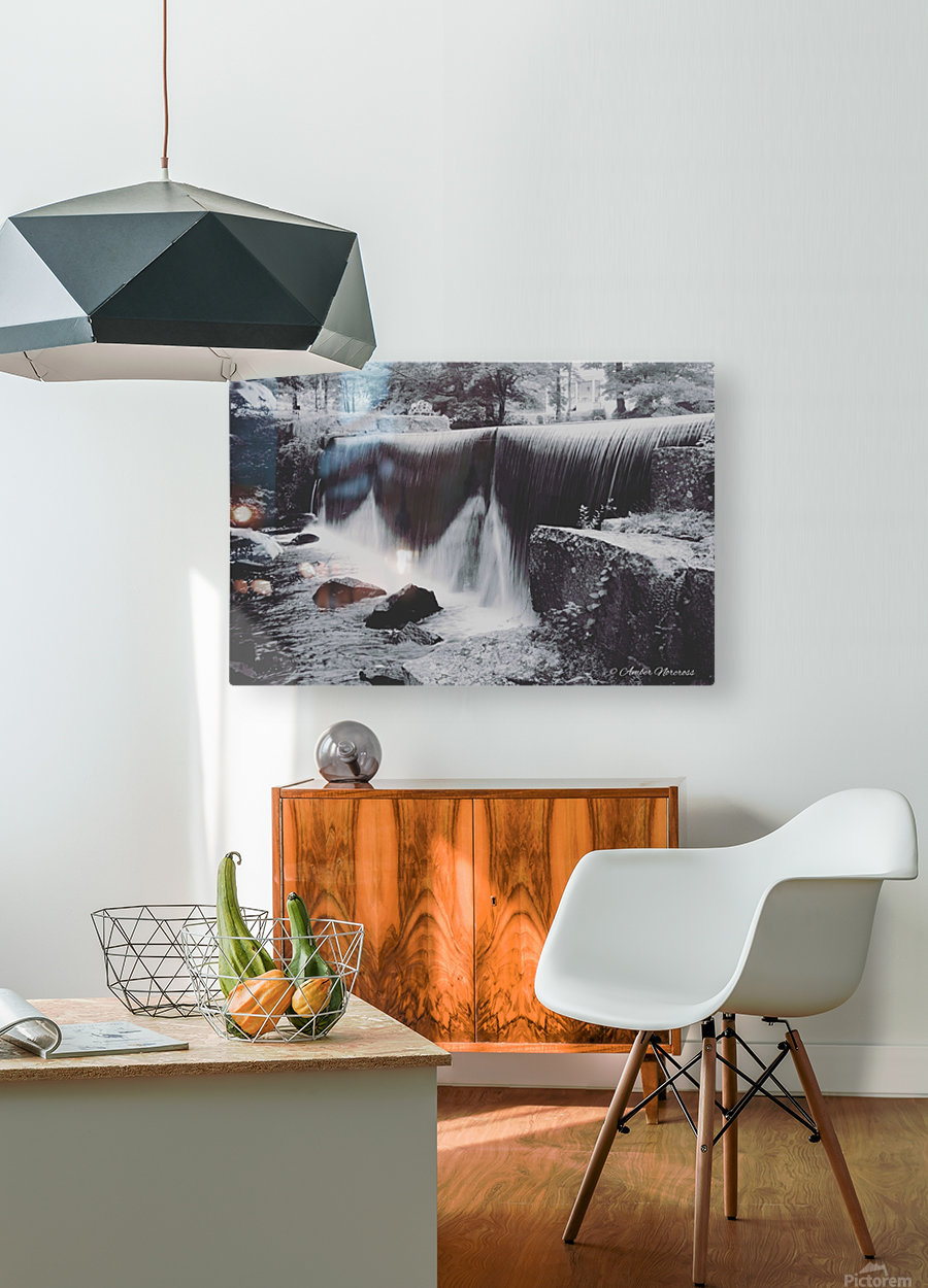 Hydrodam  HD Metal print with Floating Frame on Back
