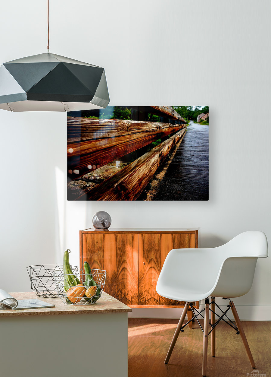 Wooden bridge  HD Metal print with Floating Frame on Back