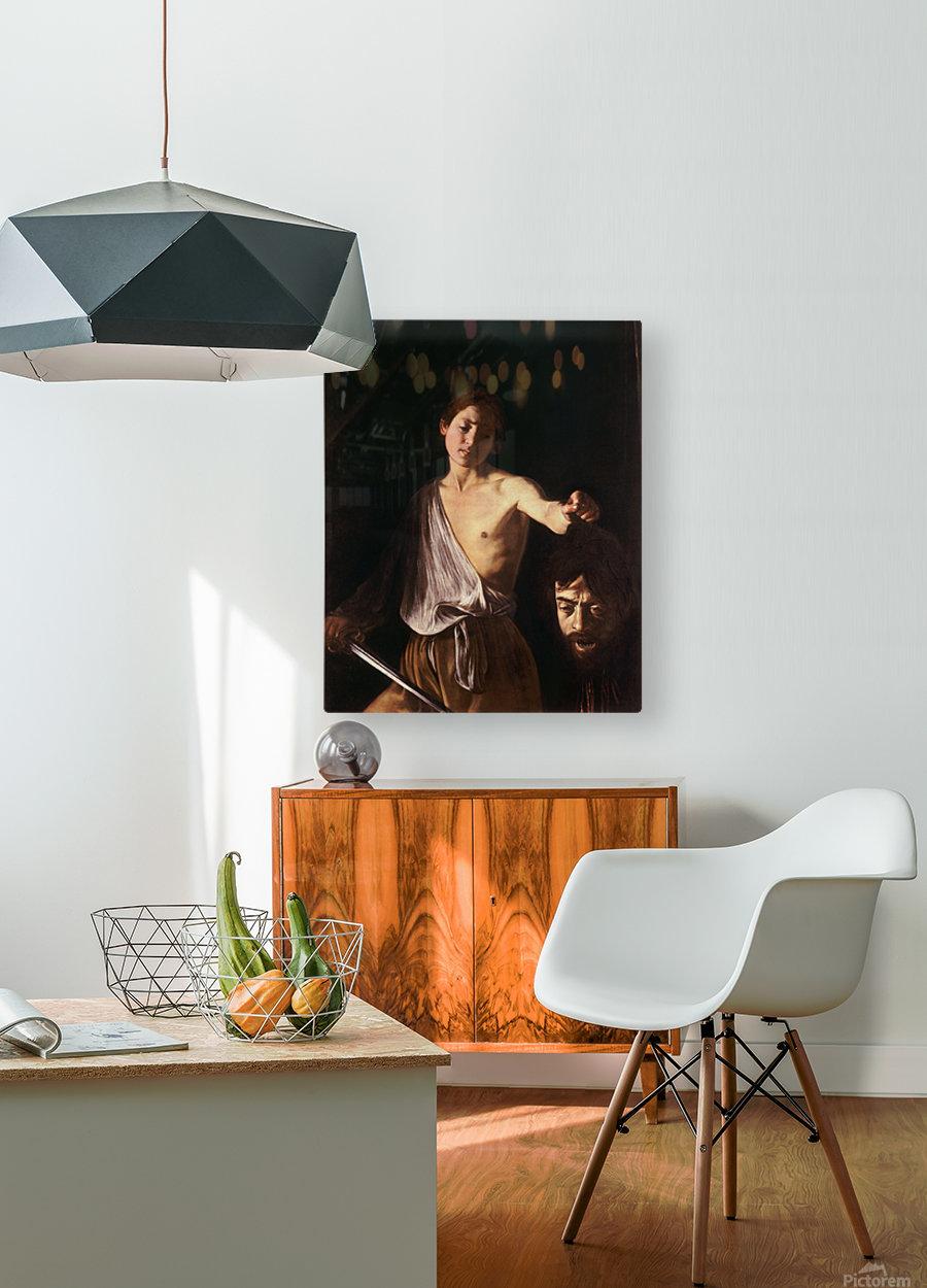 David con la testa di Golia  HD Metal print with Floating Frame on Back
