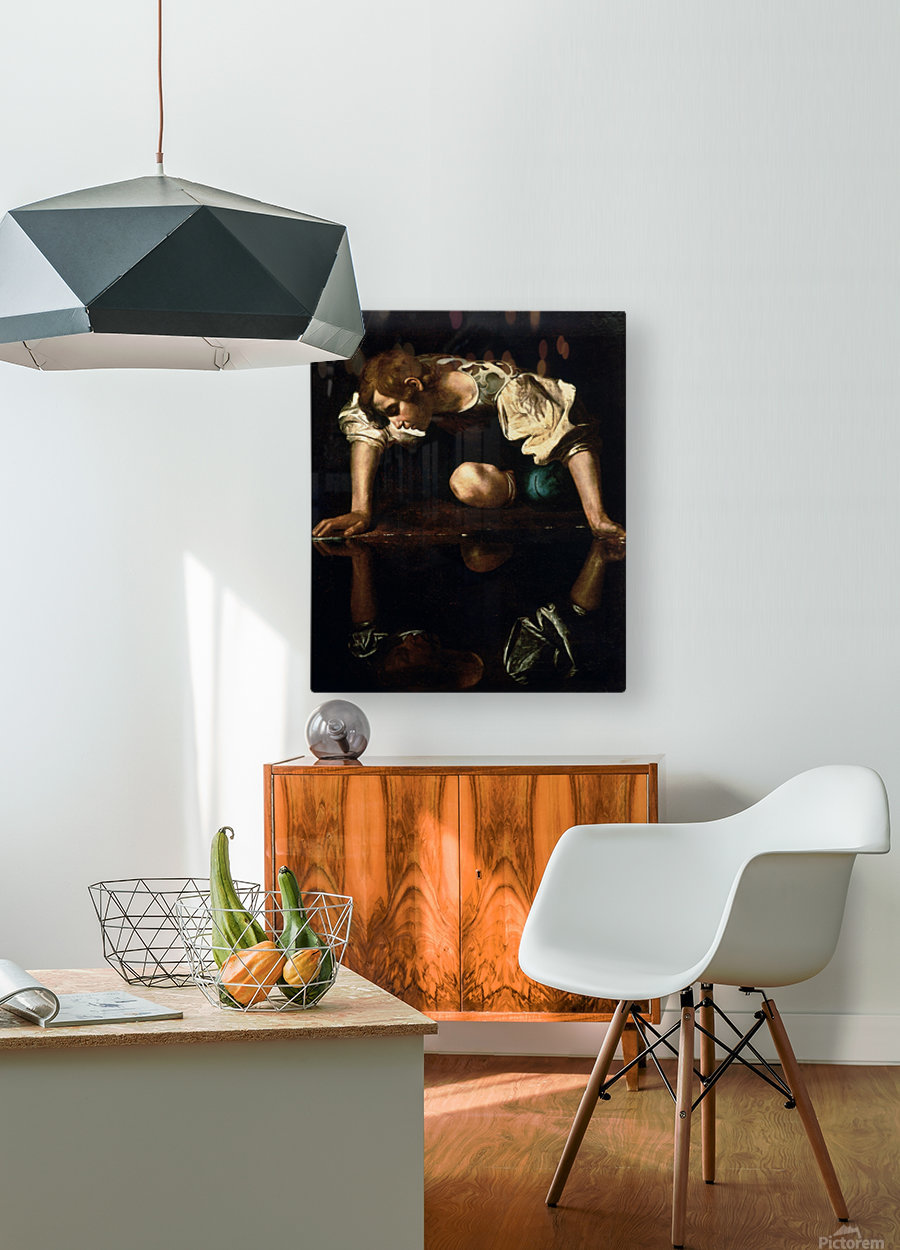 Narcissus  HD Metal print with Floating Frame on Back