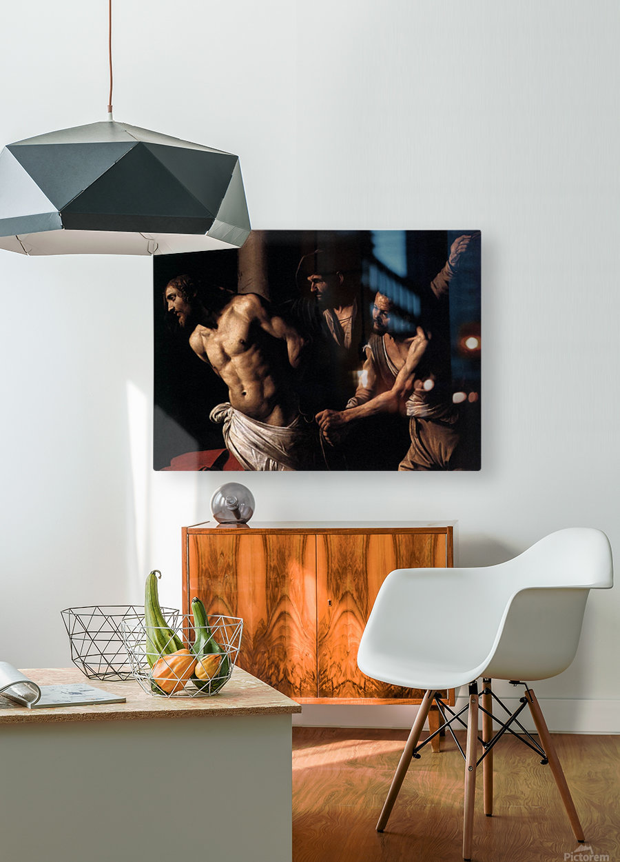 Christ at the column  HD Metal print with Floating Frame on Back