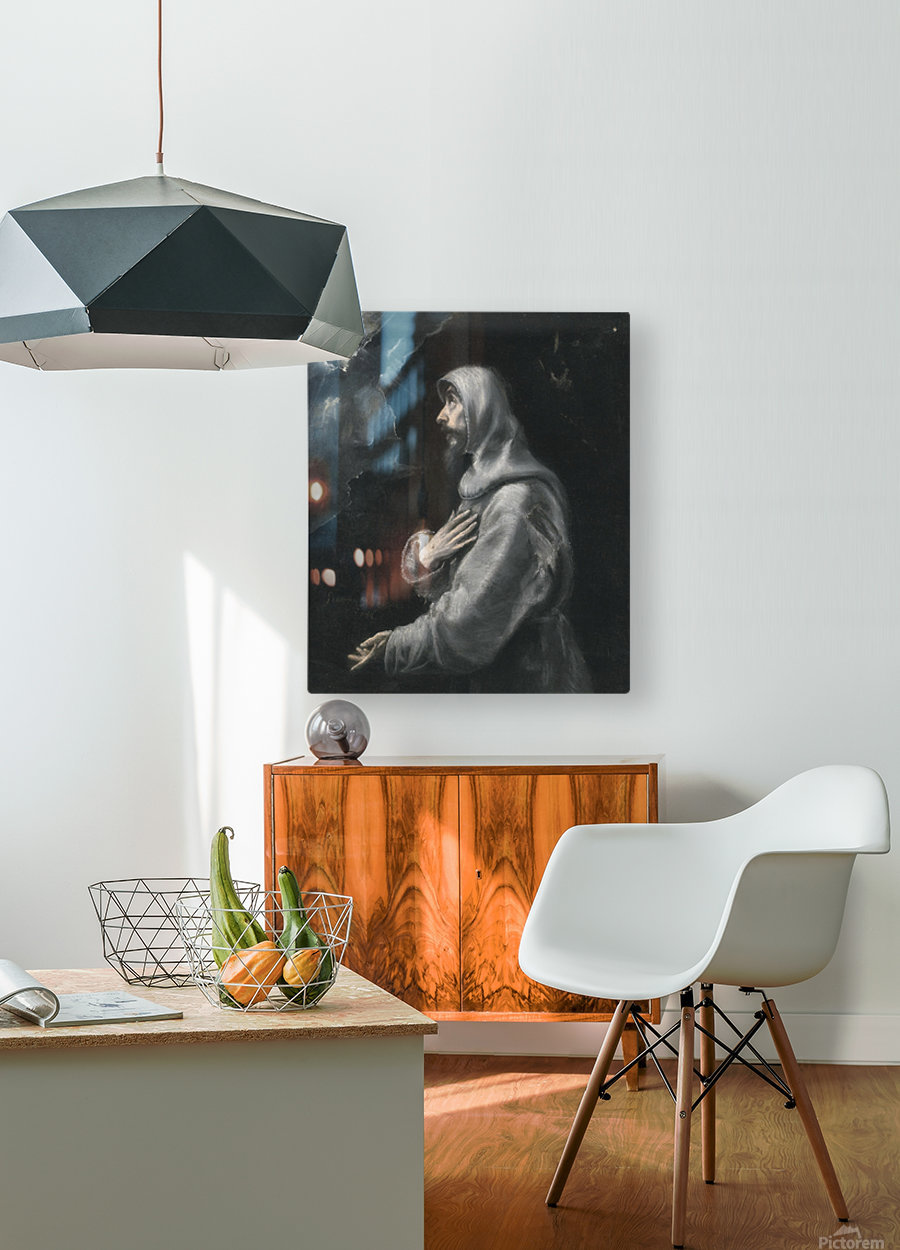 Saint Francis in Ecstasy  HD Metal print with Floating Frame on Back