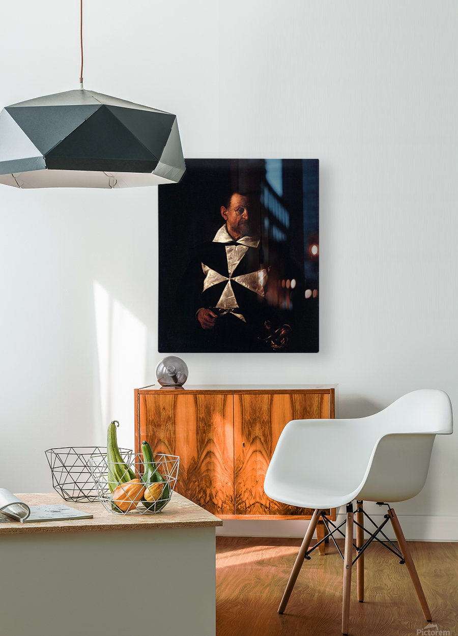 Portrait of a Maltese Knight  HD Metal print with Floating Frame on Back