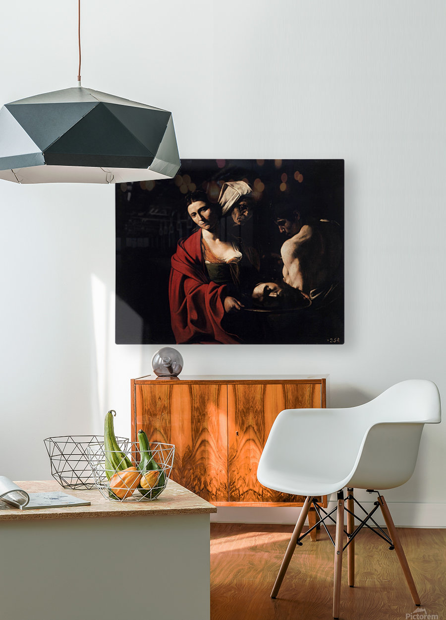 Salome with the head of the Baptist  HD Metal print with Floating Frame on Back