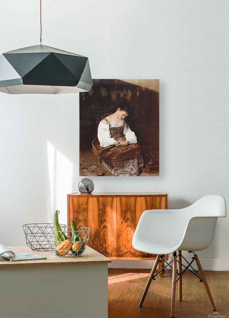 Penitent Magdalene  HD Metal print with Floating Frame on Back
