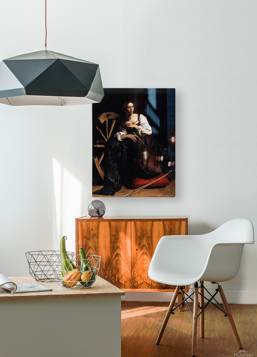 St Catherine of Alexandria  HD Metal print with Floating Frame on Back
