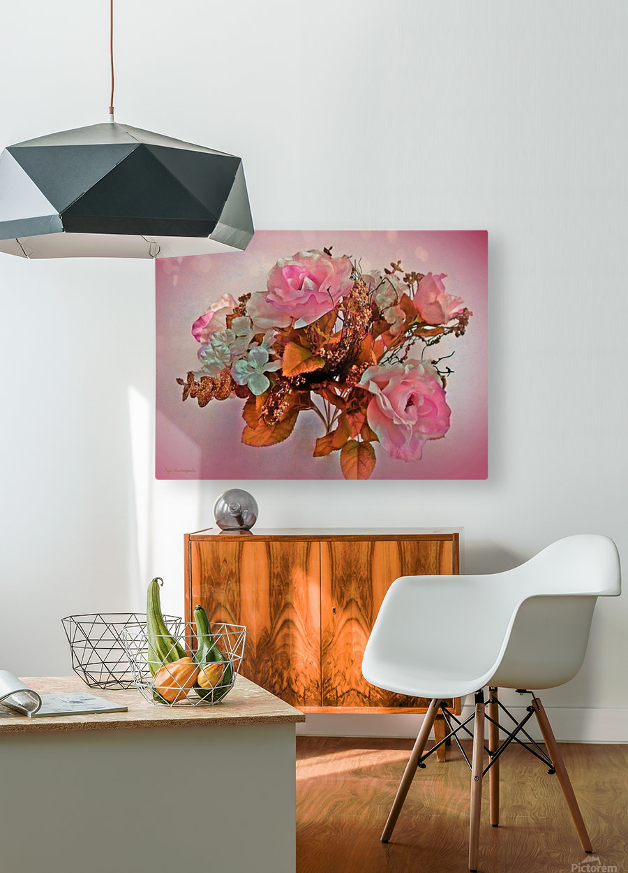 Pink Springtime Morning  HD Metal print with Floating Frame on Back