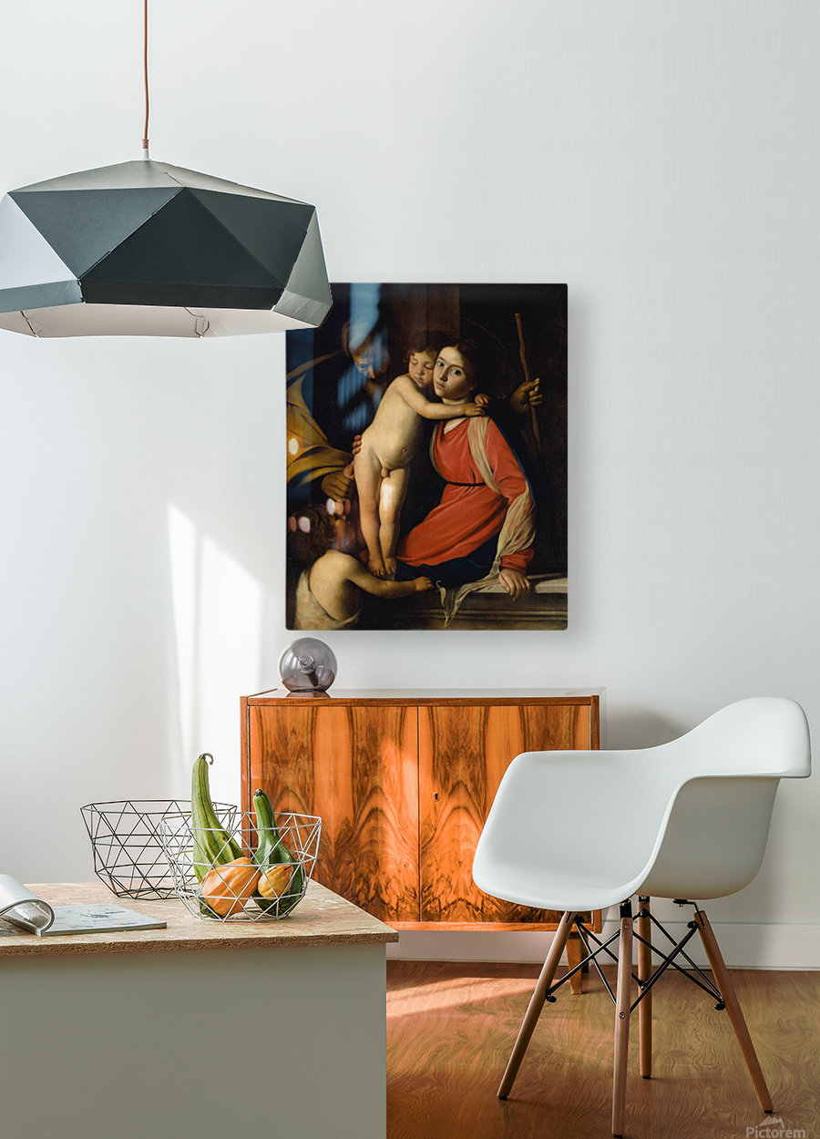 The Holy Family with the Infant St. John the Baptist  HD Metal print with Floating Frame on Back