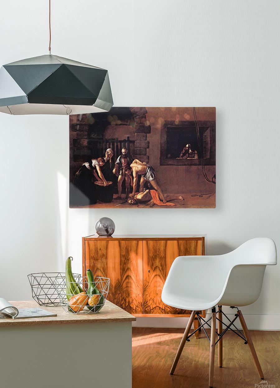 Beheading of Saint John the Baptist  HD Metal print with Floating Frame on Back