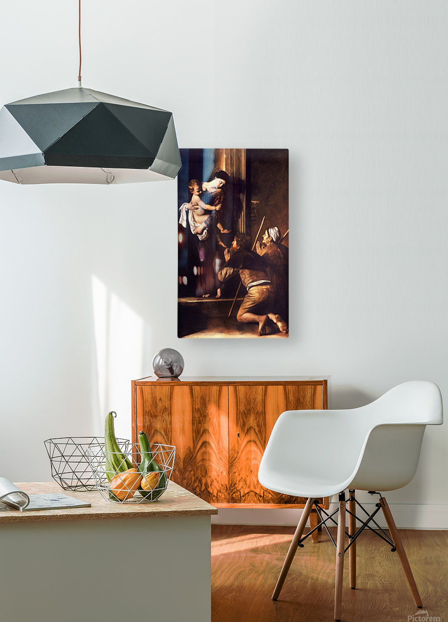 Madonna dei Pellegrini o di Loreto  HD Metal print with Floating Frame on Back