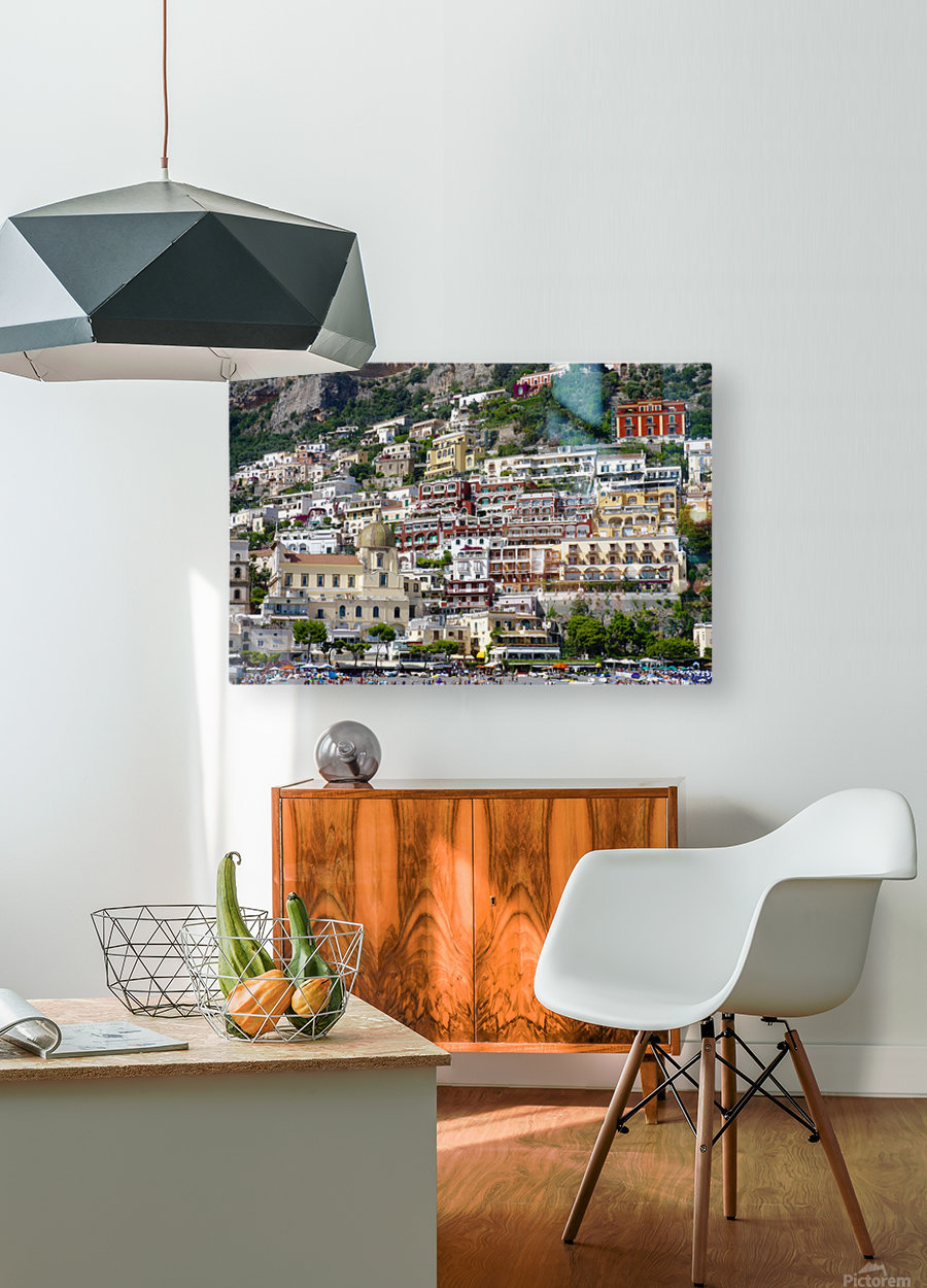 Positano  HD Metal print with Floating Frame on Back