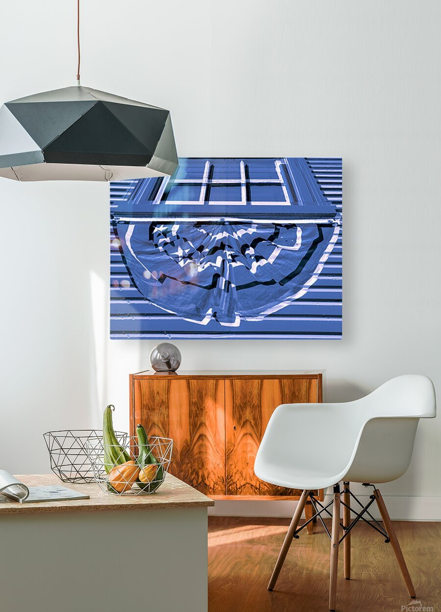 Colonial Bunting  HD Metal print with Floating Frame on Back