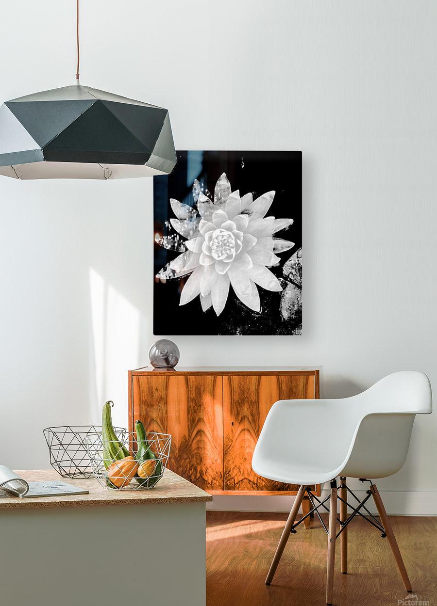 White Is the love   Impression métal HD avec cadre flottant sur le dos
