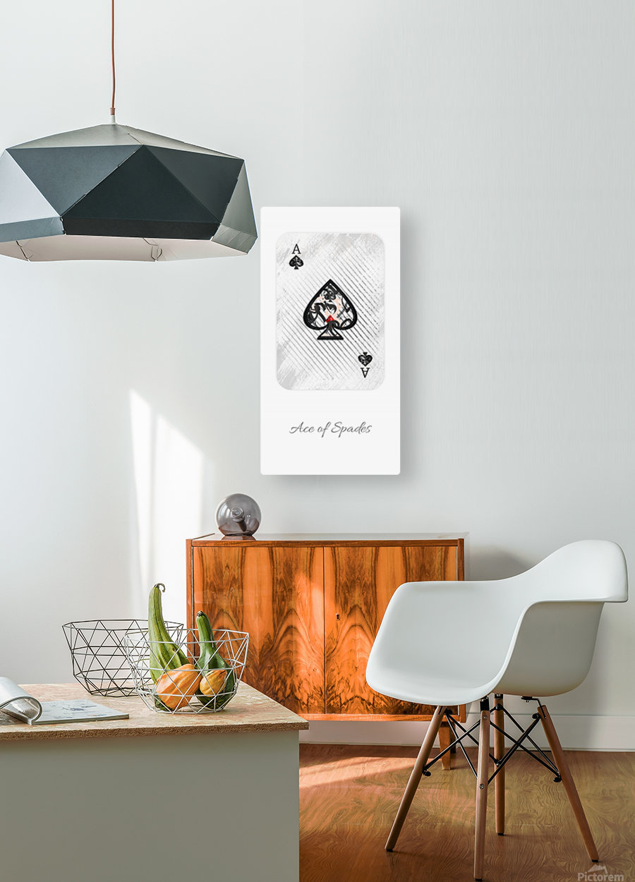 playing cards ace of spades  HD Metal print with Floating Frame on Back