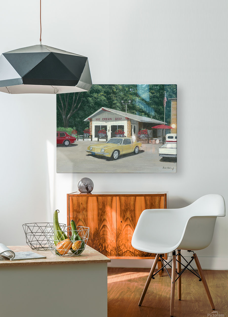 The Ice Cream Shop - Newtown Scenes  12 x 16   HD Metal print with Floating Frame on Back
