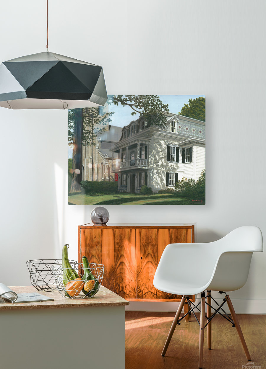 Balcony House Shadows - Newtown Scenes 16X20   HD Metal print with Floating Frame on Back