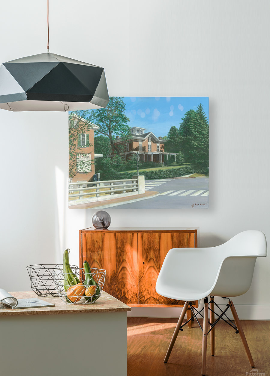 Brick House Sandy Hook - Newtown Scenes 16X20  HD Metal print with Floating Frame on Back