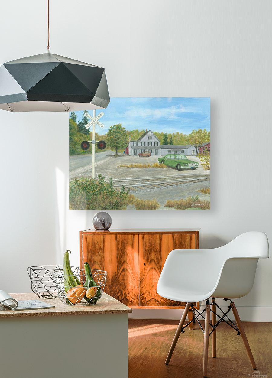 Hawleyville Scene - Newtown Scenes 16X20  HD Metal print with Floating Frame on Back