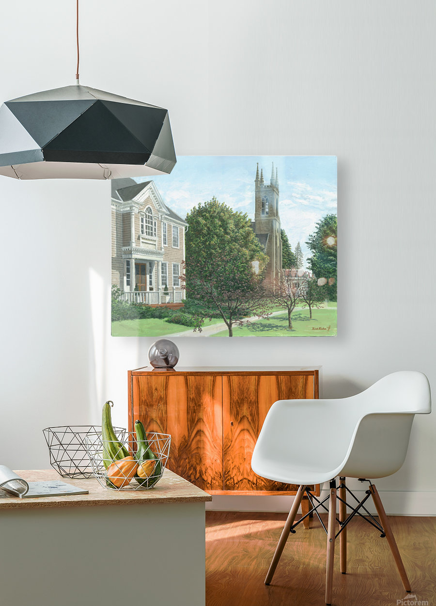 Main Street At Church Hill Road - Newtown Scenes 16X20  HD Metal print with Floating Frame on Back