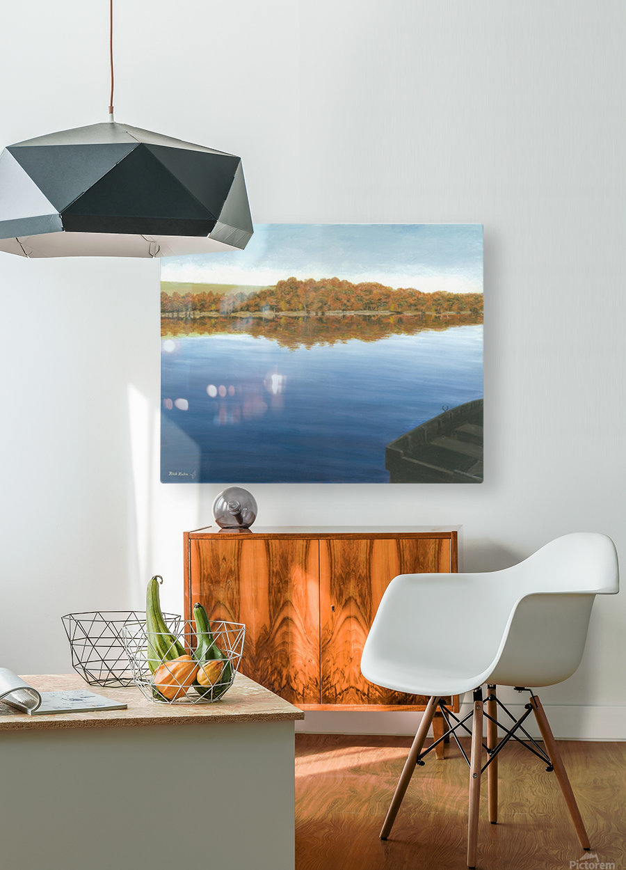 Rowboat on Taunton Lake - Newtown Scenes 16X20  HD Metal print with Floating Frame on Back