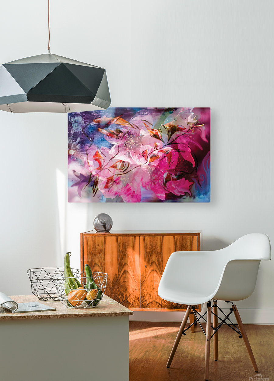 floral creation abstraction  HD Metal print with Floating Frame on Back