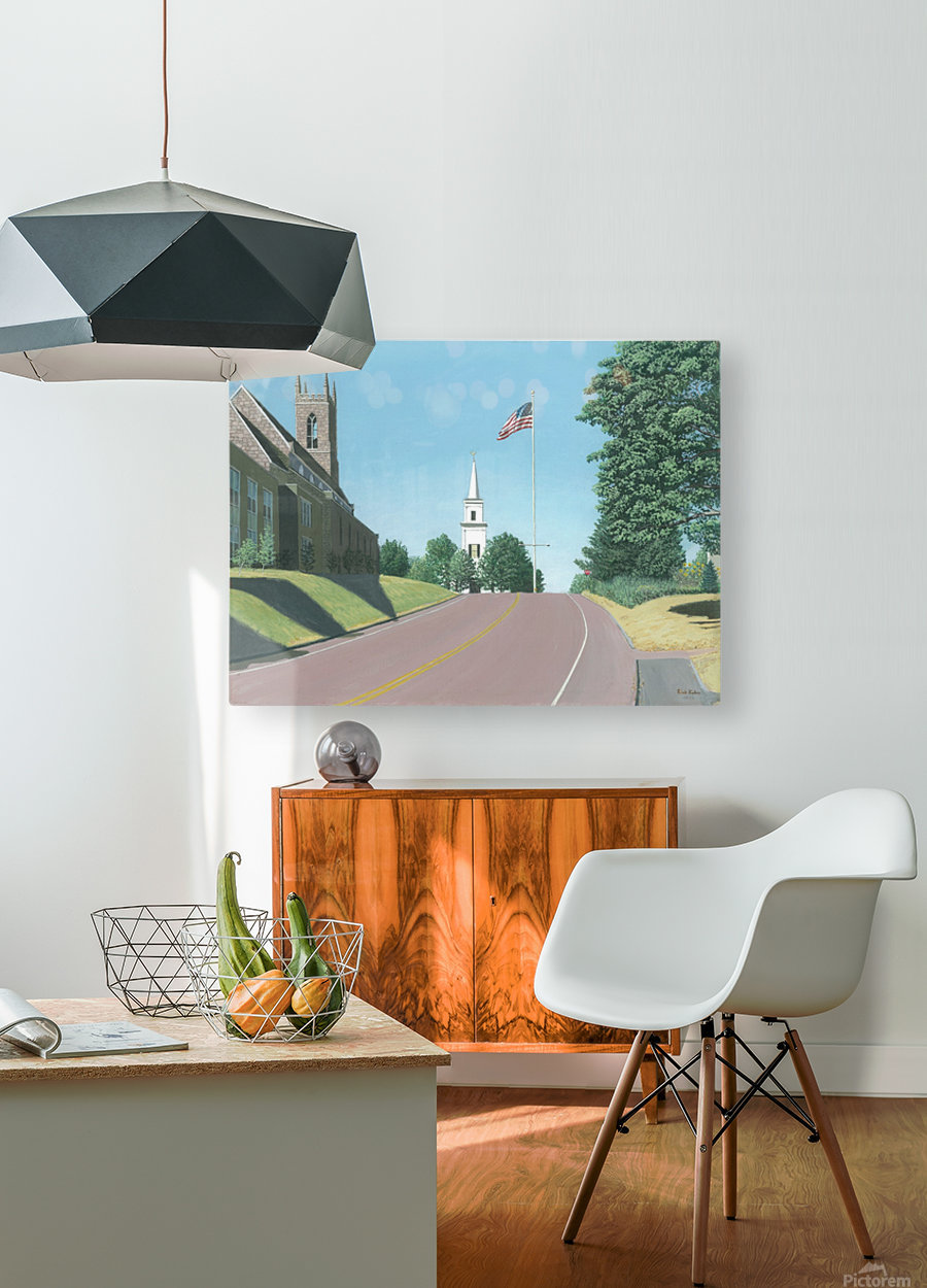 Church Hill Road - Newtown Scenes 12X16  HD Metal print with Floating Frame on Back