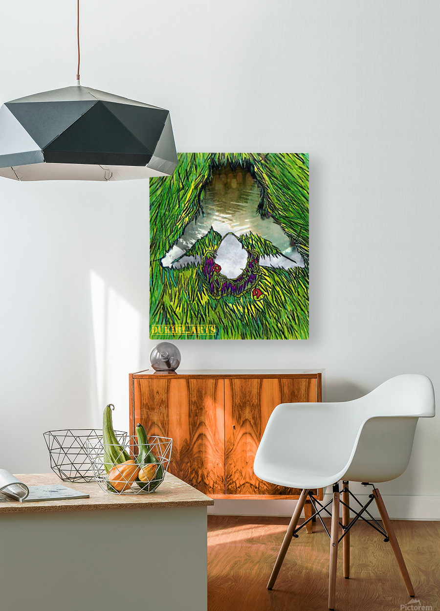 Woman of the Pond  HD Metal print with Floating Frame on Back